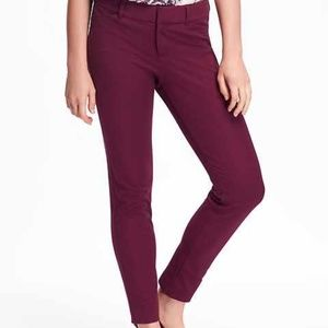 Old Navy Womens 12 Pixie Pants Purple Ankle